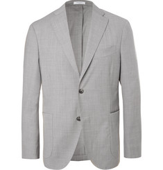 Boglioli - Light-Grey Unstructured Mélange Virgin Wool Suit Jacket