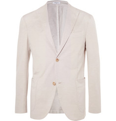 Boglioli Beige Unstructured Cotton and Linen-Blend Suit Jacket