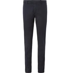 Boglioli Storm-Blue Stretch Cotton and Linen-Blend Suit Trousers