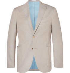 Boglioli Stone Stretch-Cotton Twill Blazer