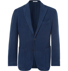 Boglioli Navy K-Jacket Cotton-Moleskin Blazer