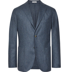 Boglioli Blue Unstructured Virgin Wool Blazer