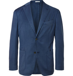 Boglioli Blue Slim-Fit Unstructured Wool-Twill Suit Jacket