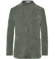 Boglioli - Grey-Green Slim-Fit Stretch-Cotton Corduroy Blazer