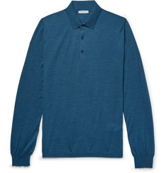 Boglioli - Slim-Fit Mélange Virgin Wool Polo Shirt
