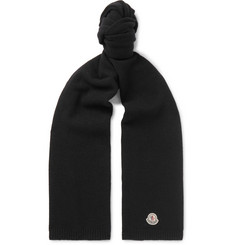 Moncler Logo-Appliquéd Virgin Wool Scarf