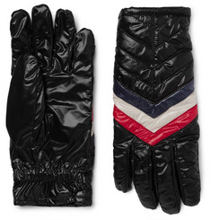 Moncler Striped Quilted Shell Gloves