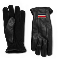 Moncler Suede and Leather Gloves