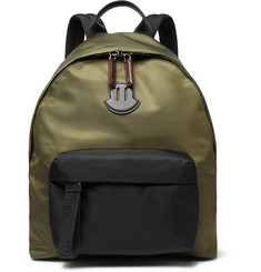 Moncler Leather-Trimmed Nylon Backpack