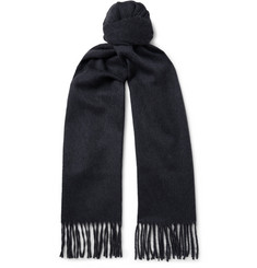 Lanvin - Two-Tone Fringed Cashmere Scarf