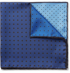 Lanvin - Polka-Dot Silk-Twill Pocket Square