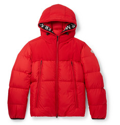 Moncler Montclar Grosgrain-Trimmed Quilted Shell Hooded Down Jacket
