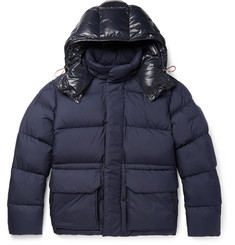 Moncler Glacier Quilted Shell Hooded Down Jacket