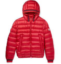 Moncler - Avrieux Stripe-Trimmed Quilted Shell Hooded Down Jacket