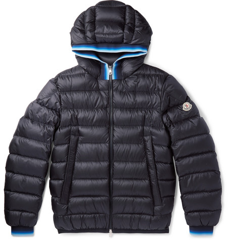 Avrieux Stripe-Trimmed Quilted Shell Hooded Down Jacket