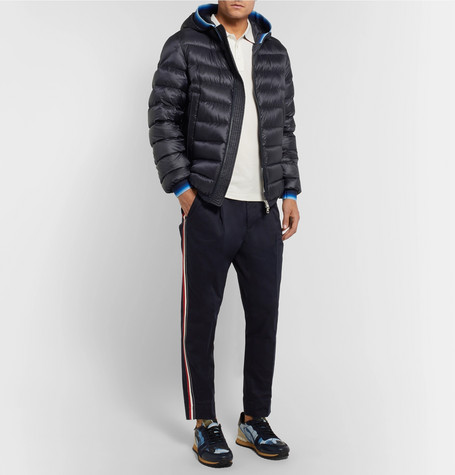 4d829469c Moncler - Avrieux Stripe-Trimmed Quilted Shell Hooded Down Jacket