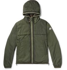 Moncler - Webbing-Trimmed Shell Hooded Down Jacket