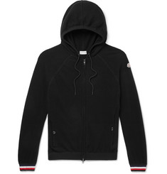 Moncler Virgin Wool Zip-Up Hoodie