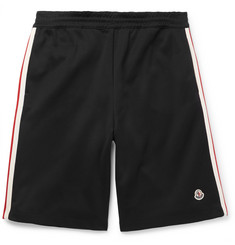 Moncler Wide-Leg Grosgrain-Trimmed Cotton-Jersey Shorts