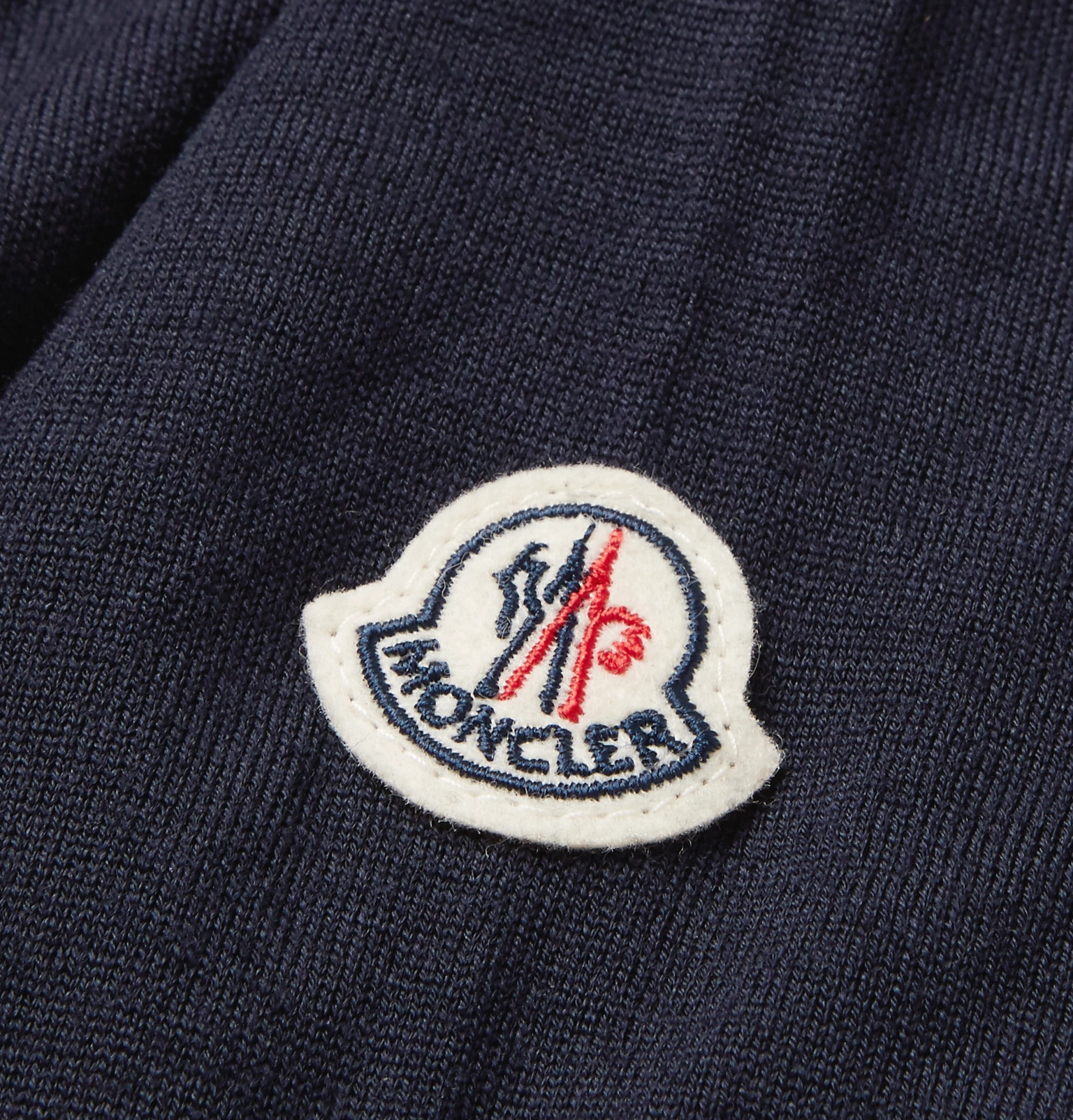 89e2a4a5c Moncler - Contrast-Tipped Virgin Wool Sweater