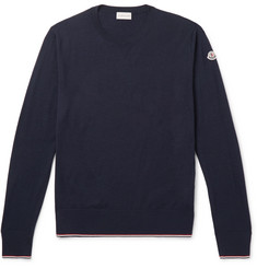 Moncler Contrast-Tipped Virgin Wool Sweater