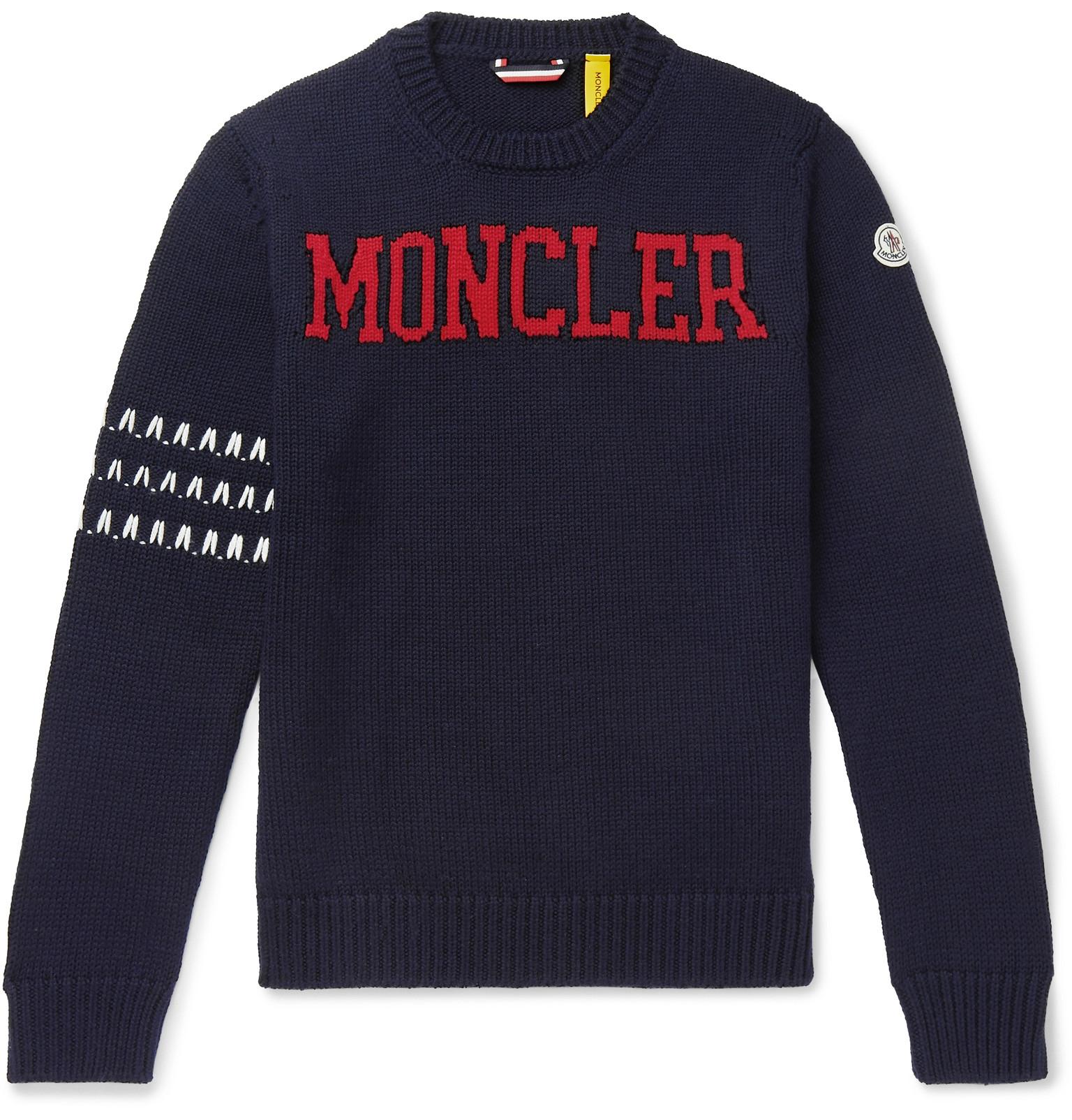 2c9ae1e0da233 Moncler Genius - 2 Moncler 1952 Logo-Intarsia Virgin Wool Sweater