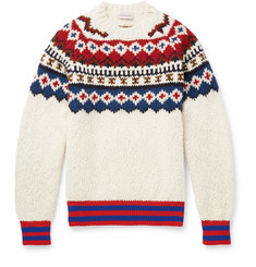 Moncler - Fair Isle Wool-Blend Sweater