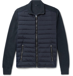 TOM FORD Ribbed Wool and Quilted Shell Down Jacket