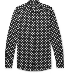 Dolce & Gabbana - Slim-Fit Polka-Dot Stretch-Cotton Poplin Shirt