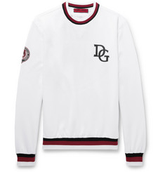 Dolce & Gabbana Printed Loopback Cotton-Blend Sweatshirt