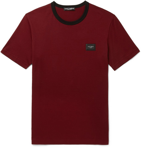 Appliquéd Cotton-jersey T-shirt Dolce & Gabbana Sale 100% Authentic Explore Sale Online zZ4wh3e