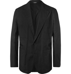 Dolce & Gabbana Black Unstructured Cotton-Poplin Blazer