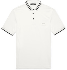 Dolce & Gabbana Slim-Fit Contrast-Tipped Cotton-Piqué Polo Shirt