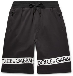 Dolce & Gabbana Logo-Printed Loopback Cotton-Jersey Shorts