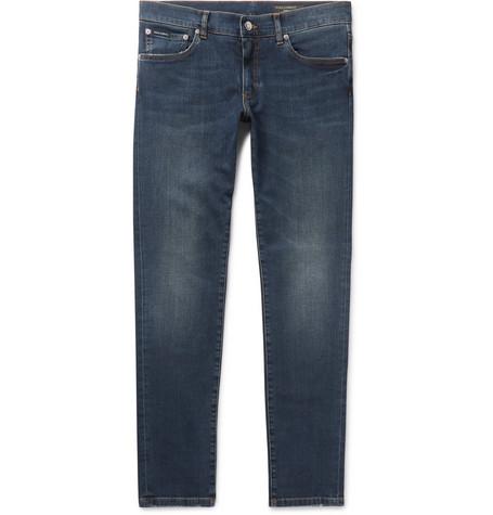 Slim Fit Stretch Denim Jeans by Dolce & Gabbana