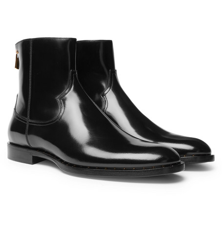 POLISHED-LEATHER CHELSEA BOOTS from MR PORTER