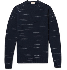 John Smedley Energy Mélange Wool and Cashmere-Blend Sweater