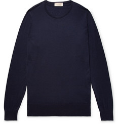 John Smedley Theon Slim-Fit Sea Island Cotton and Cashmere-Blend Sweater