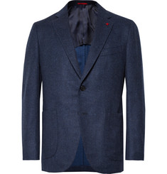 Isaia - Storm-Blue Slim-Fit Wool and Cashmere-Blend Blazer
