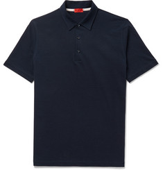 Isaia Slim-Fit Garment-Dyed Cotton-Piqué Polo Shirt