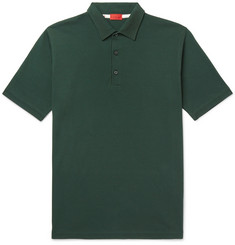 Isaia Garment-Dyed Cotton-Piqué Polo Shirt