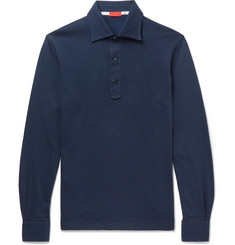 Isaia Cotton-Jacquard Polo Shirt