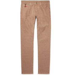 Isaia Skinny-Fit Stretch-Denim Jeans
