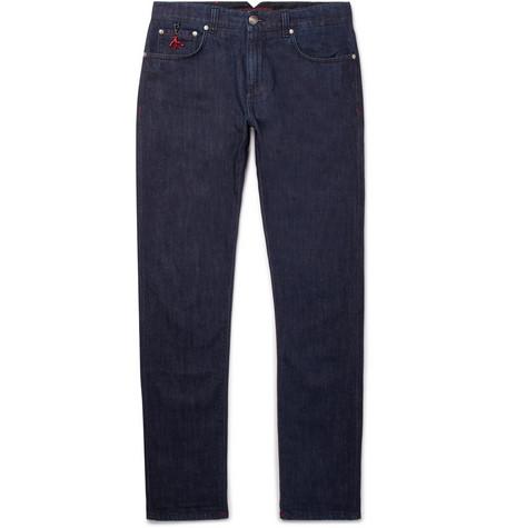 Slim-fit Stretch-denim Jeans Isaia RwEQw7auZ