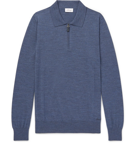 WOOL HALF-ZIP POLO SHIRT from MR PORTER