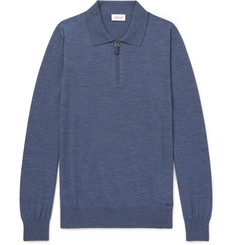 Brioni - Wool Half-Zip Polo Shirt