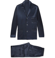 Brioni Piped Silk Pyjama Set