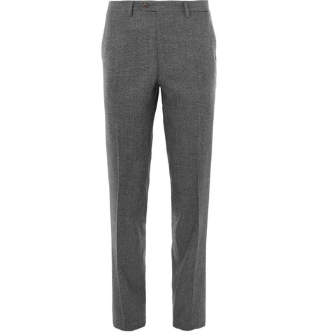 Mélange Wool Trousers by Brioni