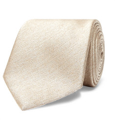 Brioni 8cm Slub Silk and Wool-Blend Tie
