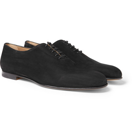 Suede Oxford Shoes by Brioni
